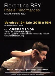 Poésie Performances au CREFAD LYON - 24 juin 2016 à 19H
