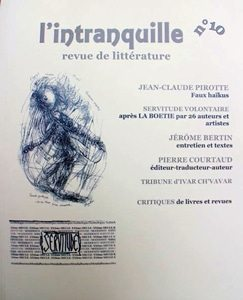 Florentine Rey - Revue l'Intranquille N°10, mai 2016
