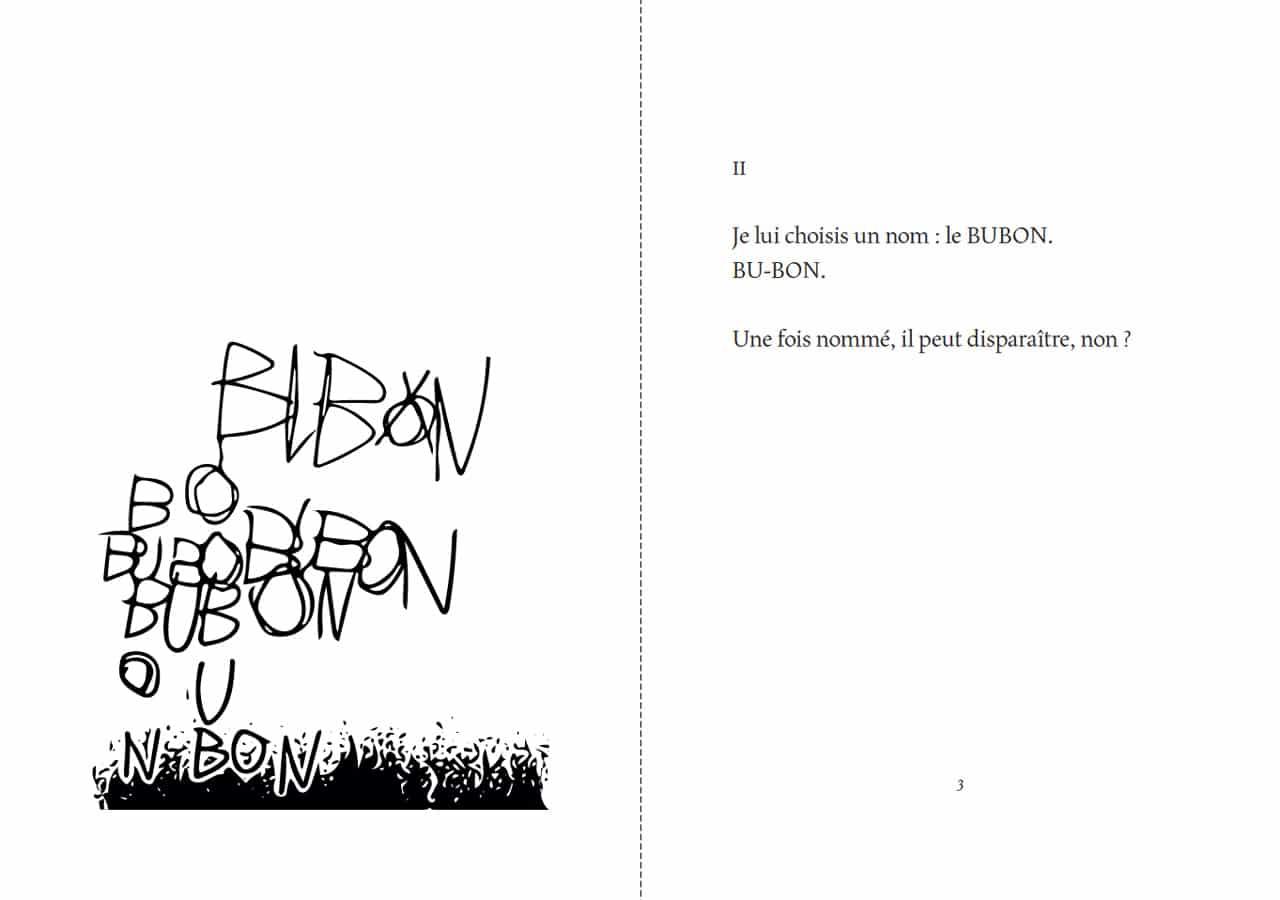 Florentine Rey, Parution du livre Le Bubon, pages 2-3