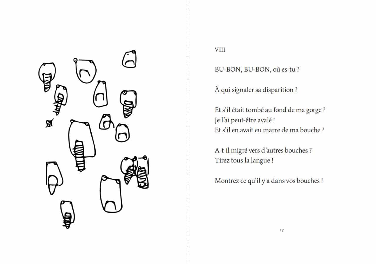 Florentine Rey, Parution du livre Le Bubon, pages 16-17