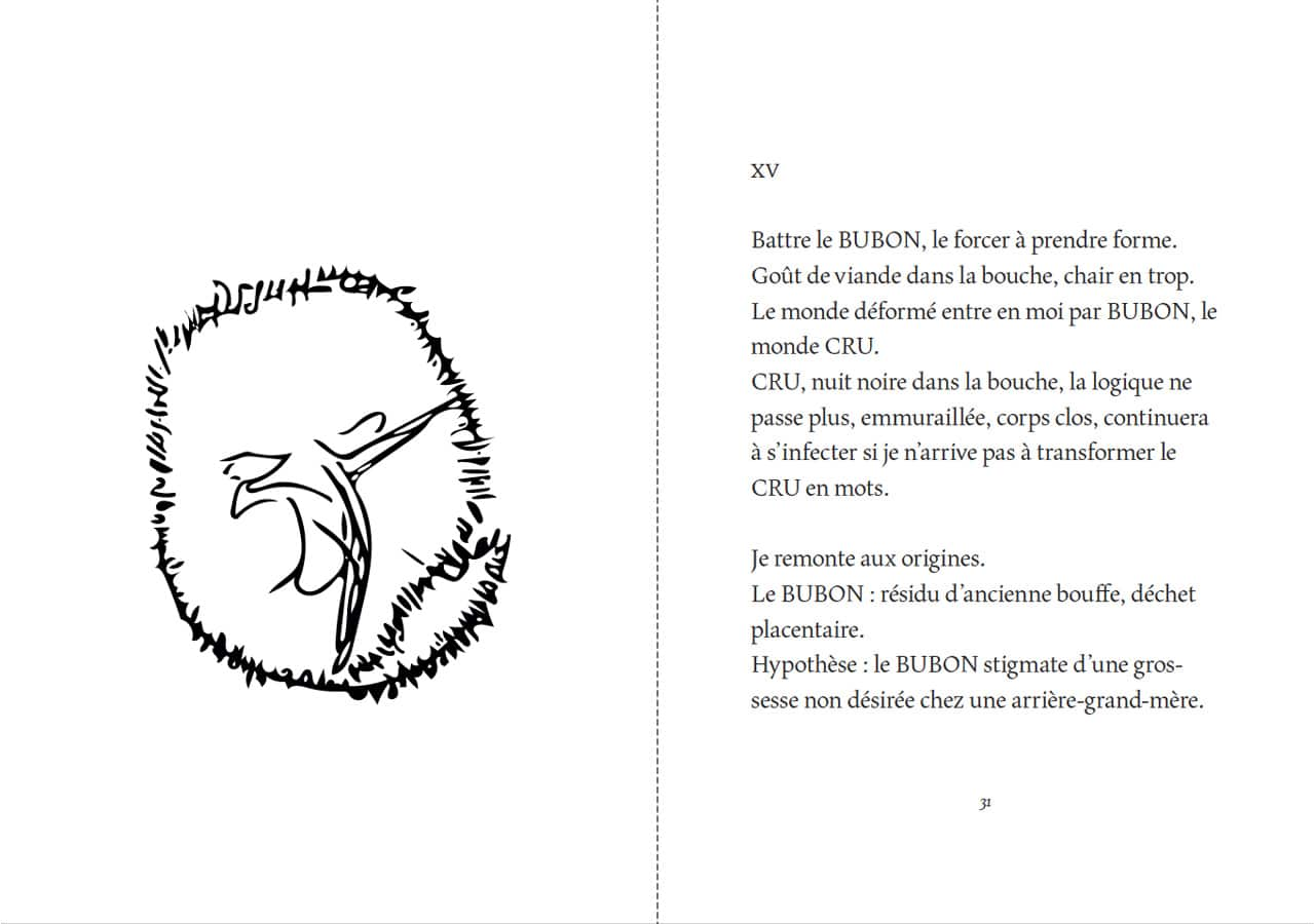 Florentine Rey, Parution du livre Le Bubon, pages 30-31