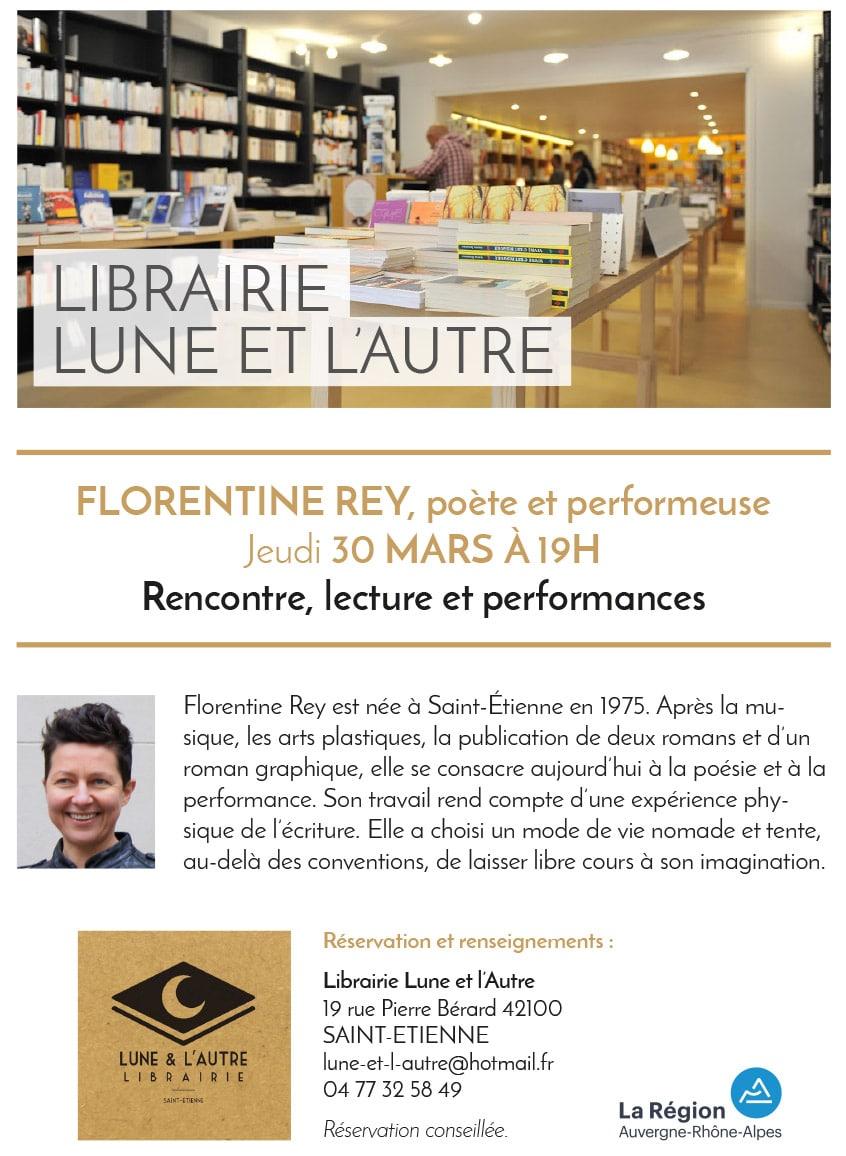 Performance à la librairie Lune et l'autre - Saint-Étienne
