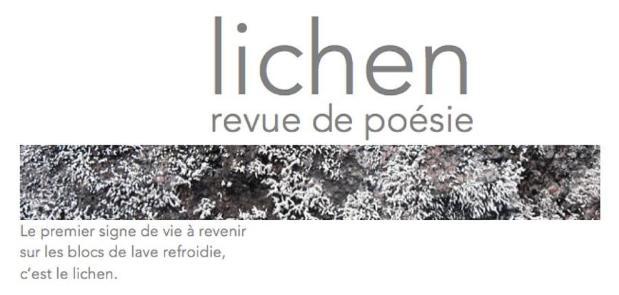 Lichen N°14 - Revue de poésie