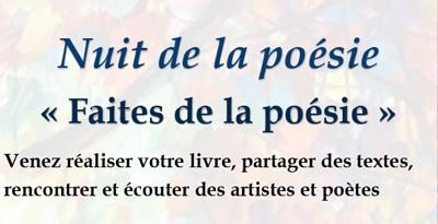 Nuit de la poésie - Faites de la poésie