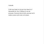 Je danse encore après minuit - Éditions Gros Textes - Canicule