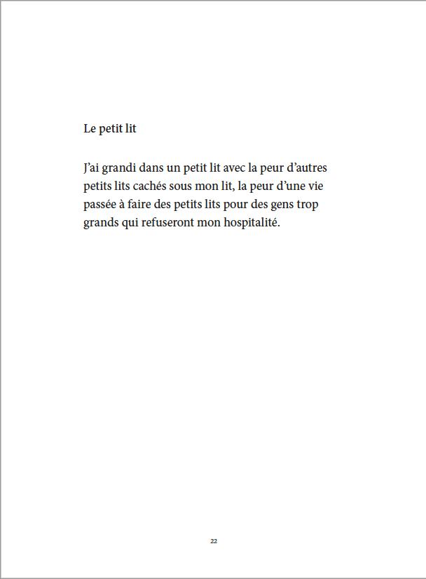 Je danse encore après minuit - Éditions Gros Textes - Le petit lit