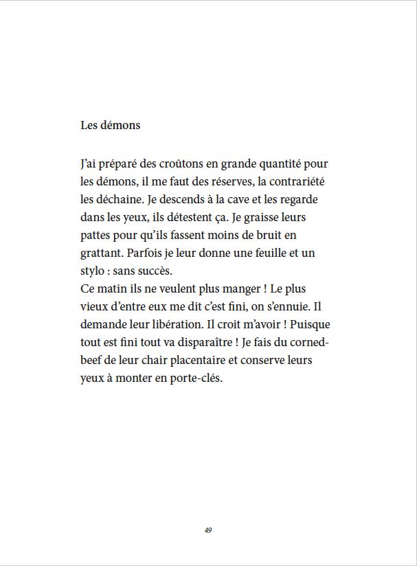 Je danse encore après minuit - Éditions Gros Textes - Les démons
