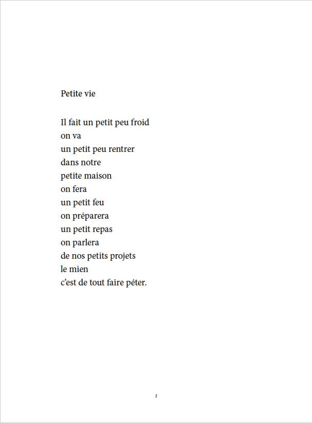Je danse encore après minuit - Éditions Gros Textes - Petite vie
