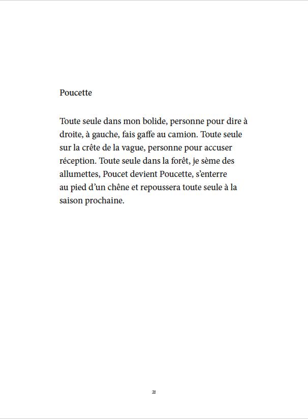Je danse encore après minuit - Éditions Gros Textes - Poucette