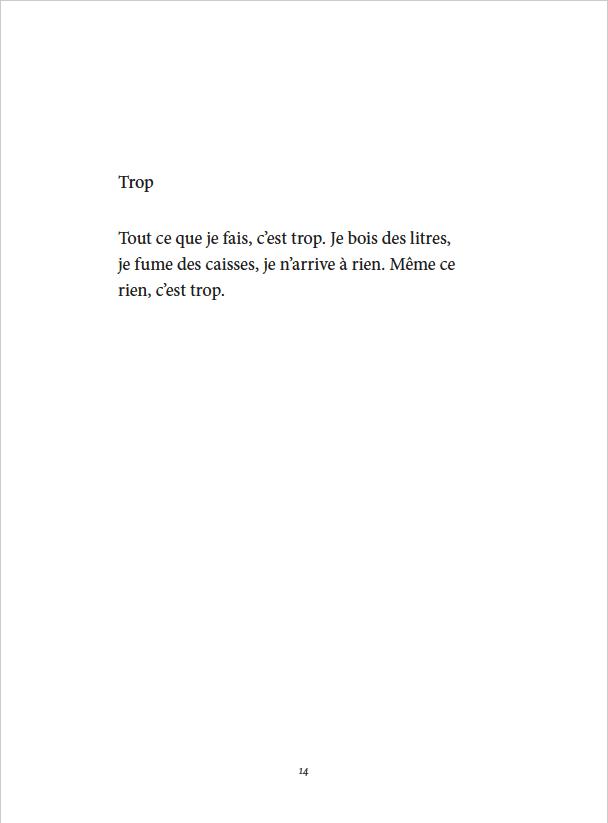 Je danse encore après minuit - Éditions Gros Textes - Trop