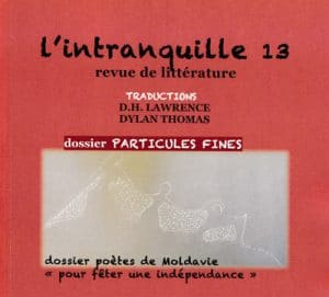 L'intranquille N°13, octobre 2017 - Une