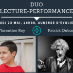 Duo Lecture-performance avec Patrick Dubost