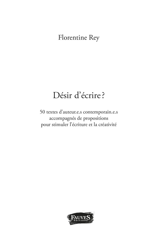 """Extrait du recueil """"Désir d'écrire ?"""" - Page 2"""